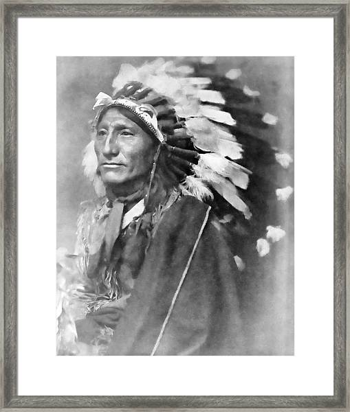 Indian Chief - 1902 Framed Print