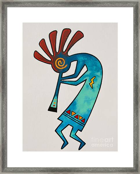 Framed Print featuring the photograph Indian Dance Two by Mae Wertz