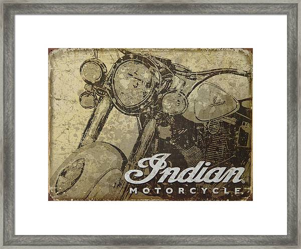 Indian Motorcycle Poster Framed Print