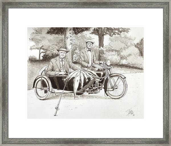 Indian Motorcylce Founders Framed Print