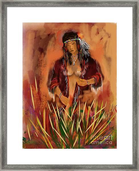 Indian Nude Framed Print