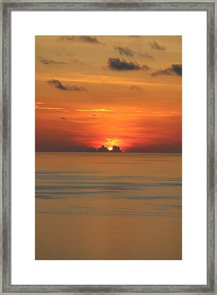 Framed Print featuring the photograph Indian Ocean Sunset  by Debbie Cundy