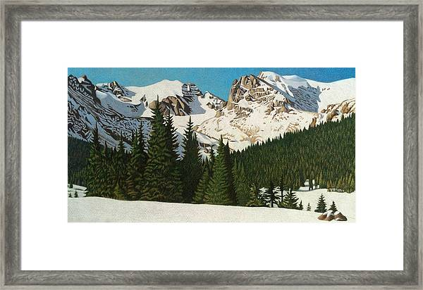Indian Peaks Winter Framed Print