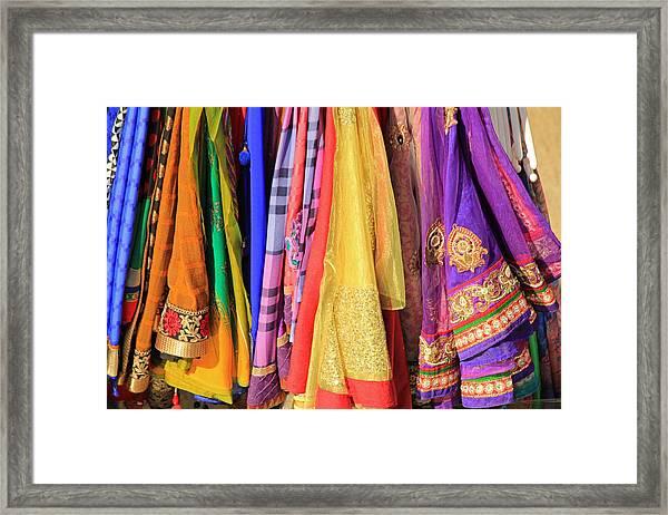 Indian Sarees Framed Print