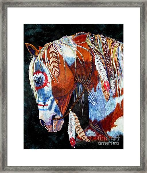 Indian War Pony Framed Print