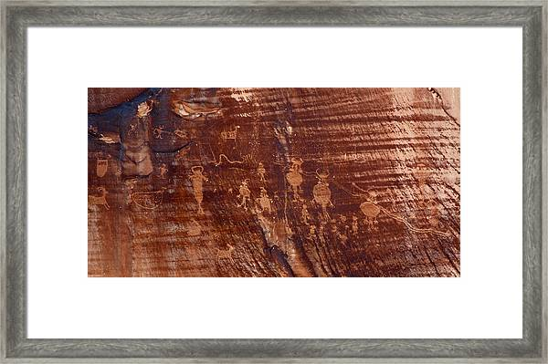 Indian Writing In Moab  Framed Print