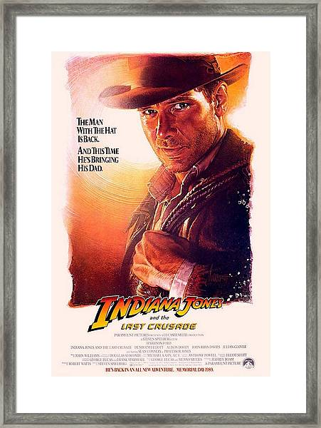 Indiana Jones And The Last Crusade  Framed Print