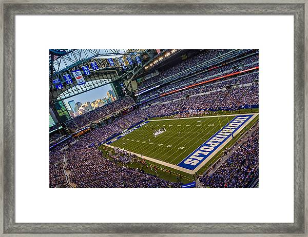 Indianapolis And The Colts Framed Print