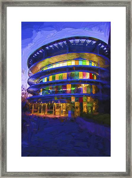 Indianapolis Indiana Museum Of Art Painted Digitally Framed Print