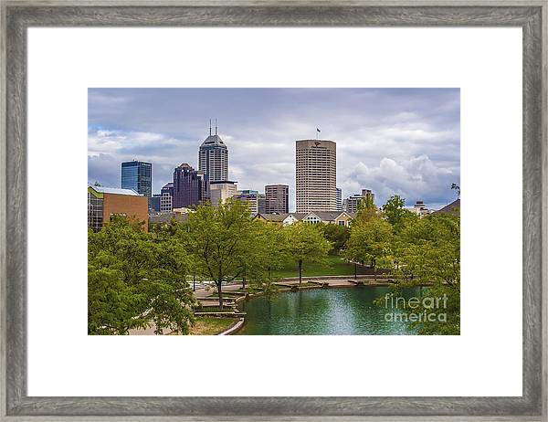 Indianapolis Indiana Skyline 1000 Framed Print