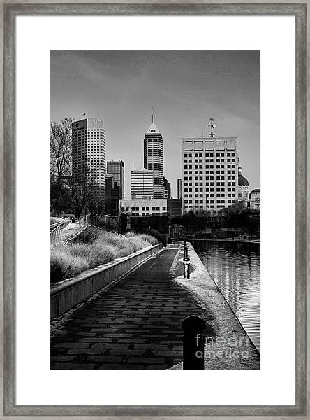Indianapolis Skyline 21 Framed Print