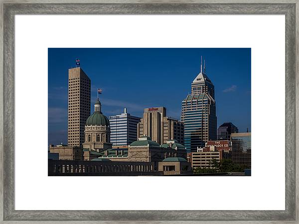 Indianapolis Skyscrapers Framed Print