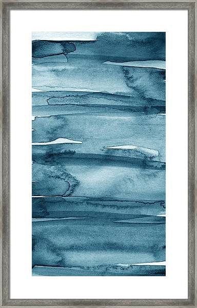 Indigo Water- Abstract Painting Framed Print