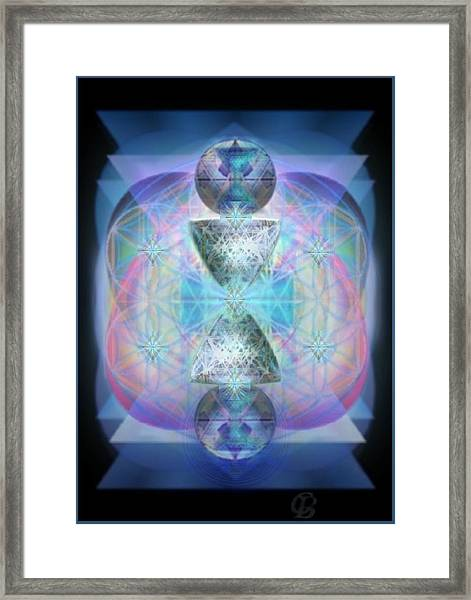 Indigoaurad Chalice Orbing Intwined Hearts Framed Print by Christopher Pringer
