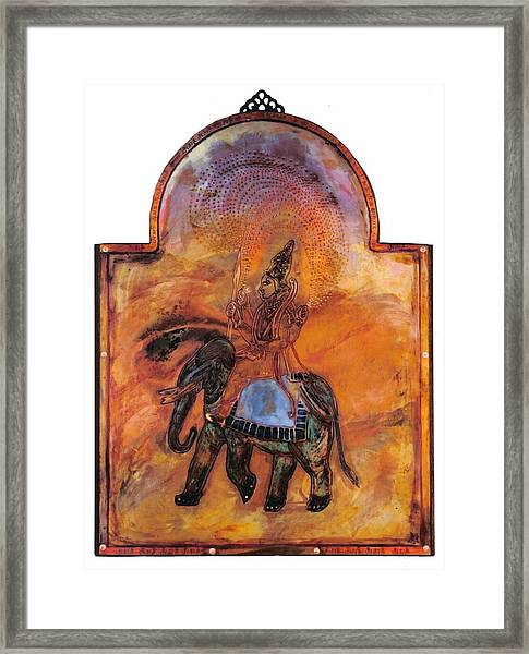 Indra And The Jeweled Net Framed Print