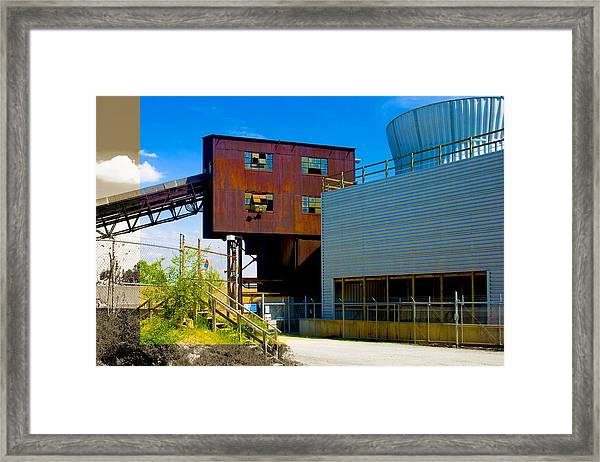 Industrial Power Plant Architectural Landscape Framed Print