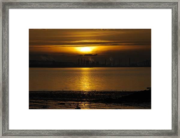 Industrial Sunset Framed Print