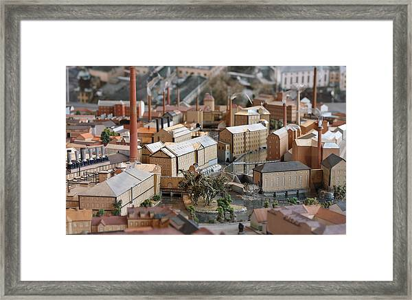 Industrial Town Miniature Model Framed Print