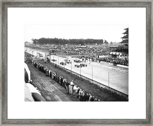 Indy 500 Auto Race Framed Print