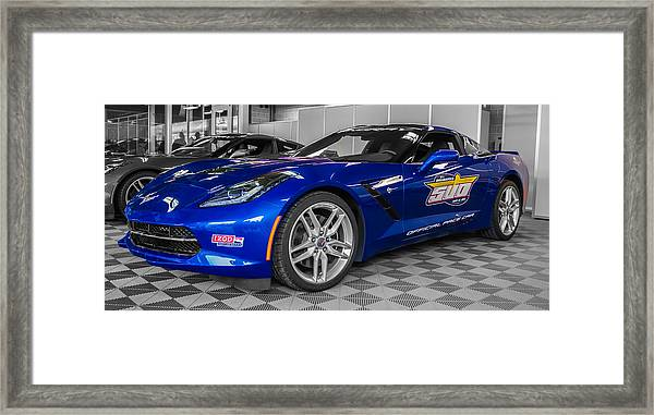 Indy 500 Corvette Pace Car Framed Print
