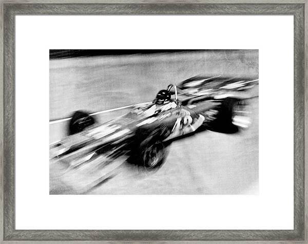 Indy 500 Race Car Blur Framed Print