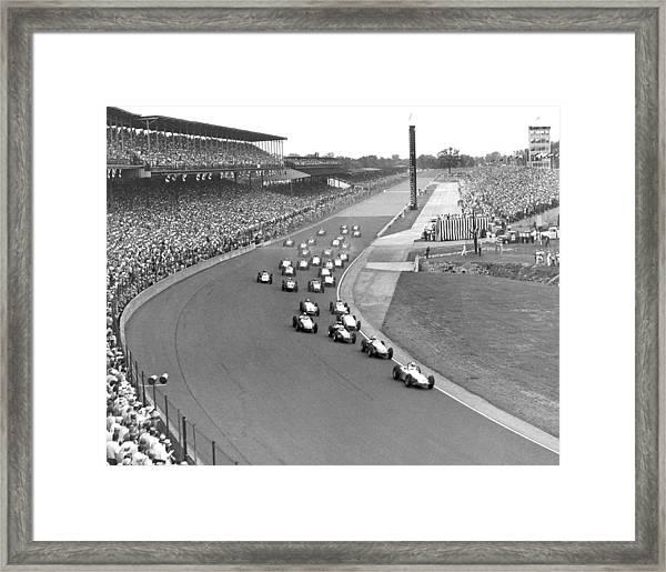 Indy 500 Race Start Framed Print