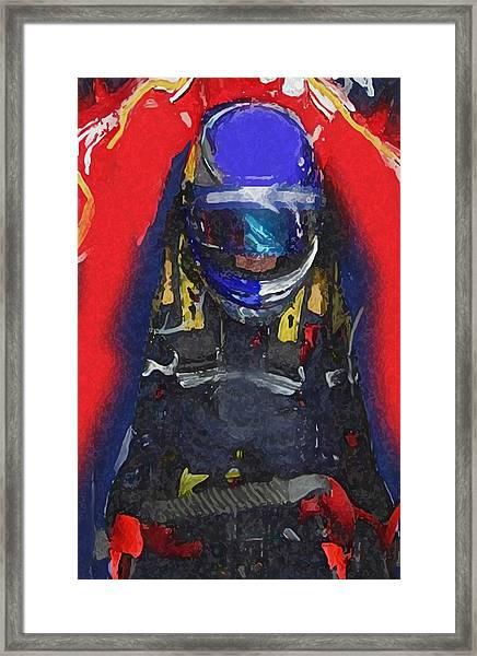 Indy Car Pilot Framed Print
