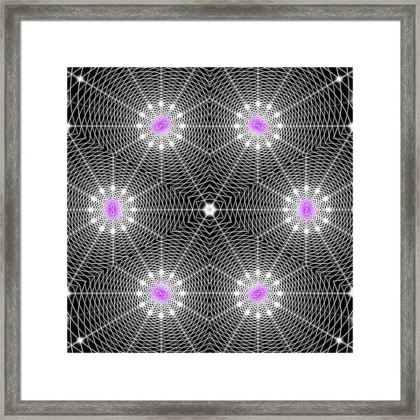 Infinity Grid Six Framed Print