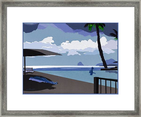 Infinity Pool Framed Print