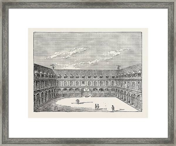 Inner Court Of The First Royal Exchange London Framed Print by English School