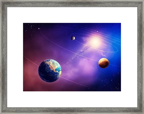 Inner Solar System Planets Framed Print
