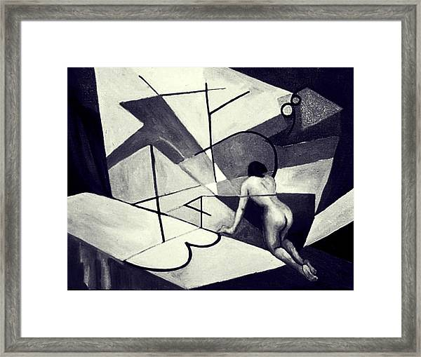 Inner World In Black And White Framed Print