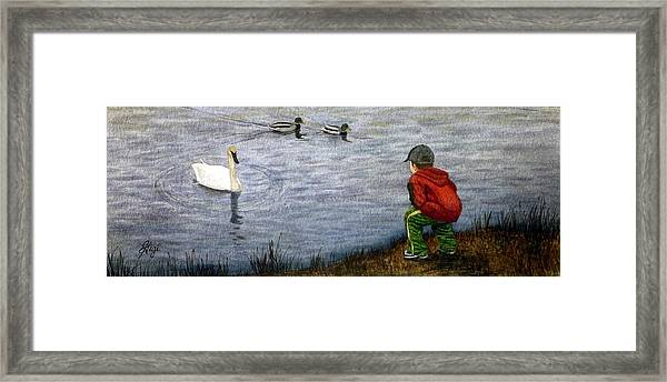 Framed Print featuring the painting Innocent Curiosity by Gigi Dequanne