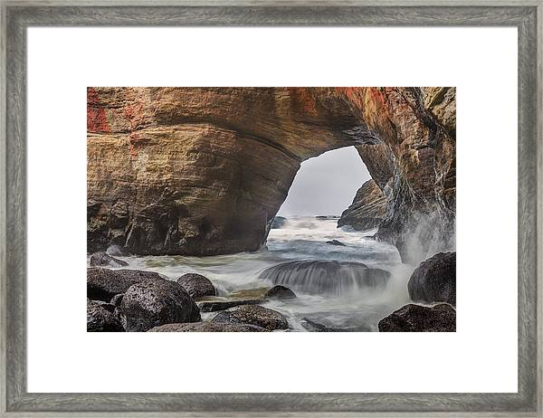 Inside Devils Punch Bowl Framed Print