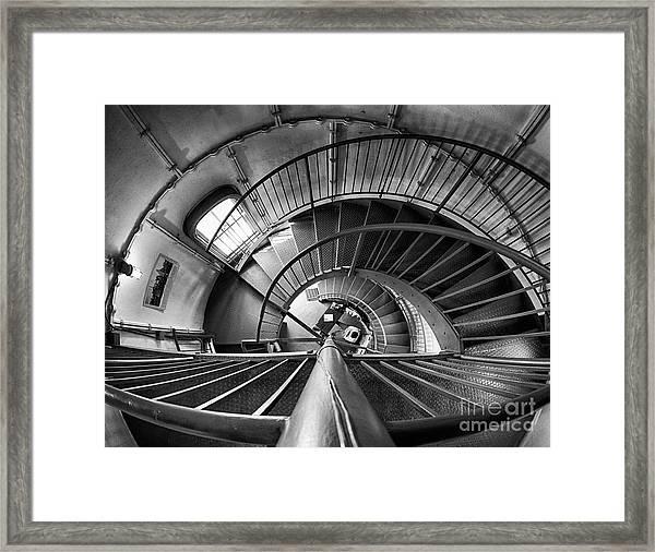 Inside Edgartown Lighthouse 3 Framed Print