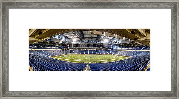 Inside Ford Field Framed Print