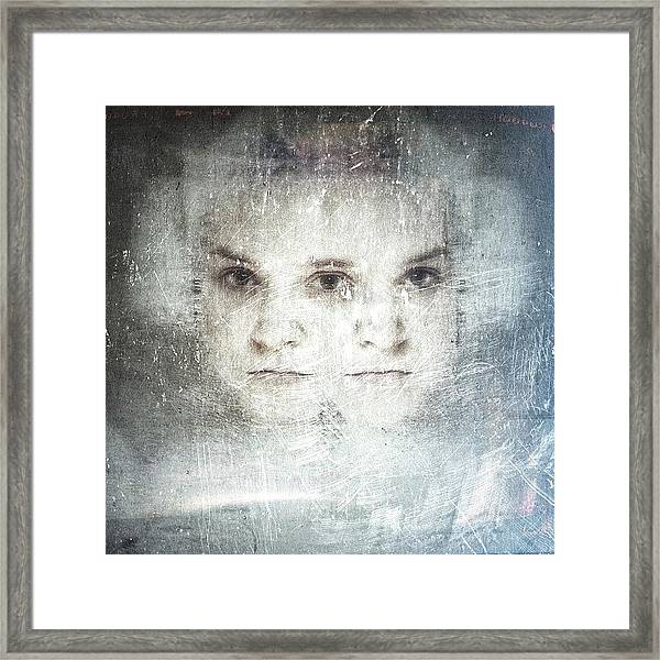 Inside Our Minds...#selfportrait Framed Print