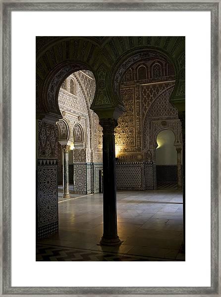 Framed Print featuring the photograph Inside The Alcazar Of Seville by Lorraine Devon Wilke