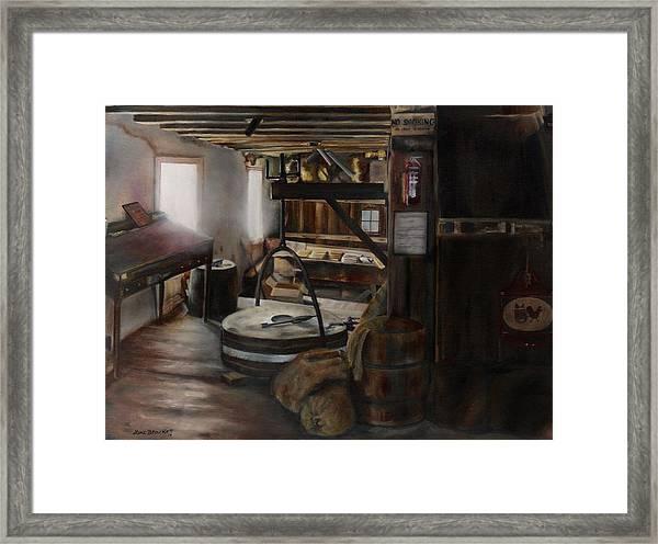 Inside The Flour Mill Framed Print