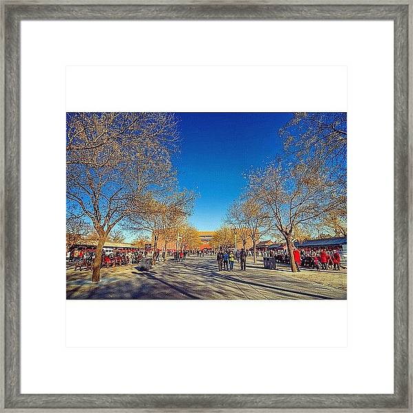 Inside The Forbidden City In Beijing Framed Print