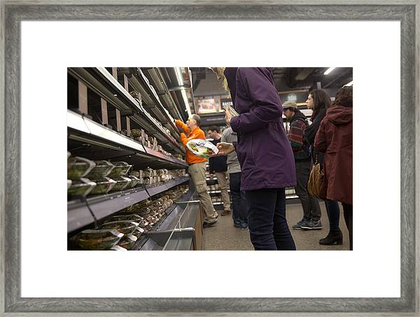 Inside The New Amazon Go Cashierless Convenience Store Framed Print by Bloomberg