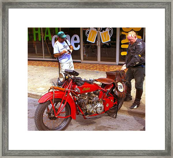 Inspecting Indian #70 Framed Print