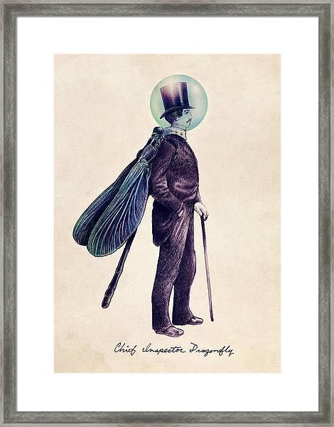 Inspector Dragonfly Framed Print