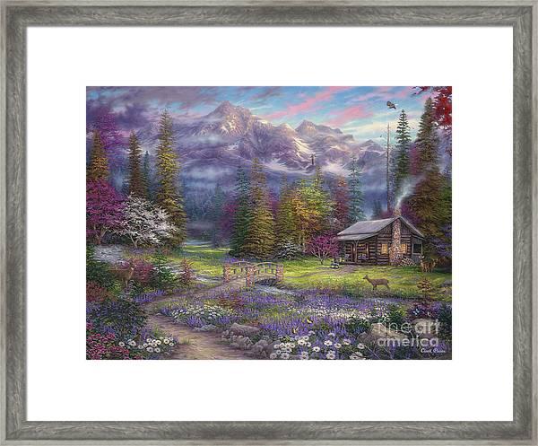 Inspiration Of Spring Meadows Framed Print
