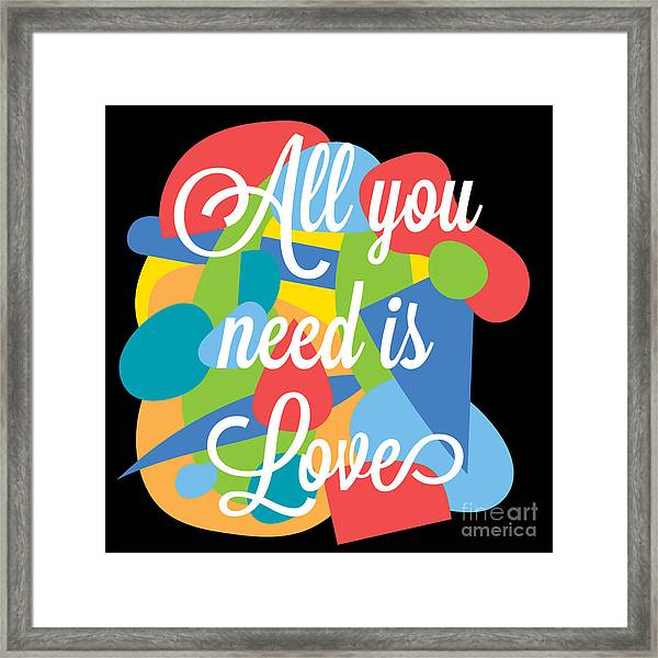 Inspirational Motivation Colorful Framed Print