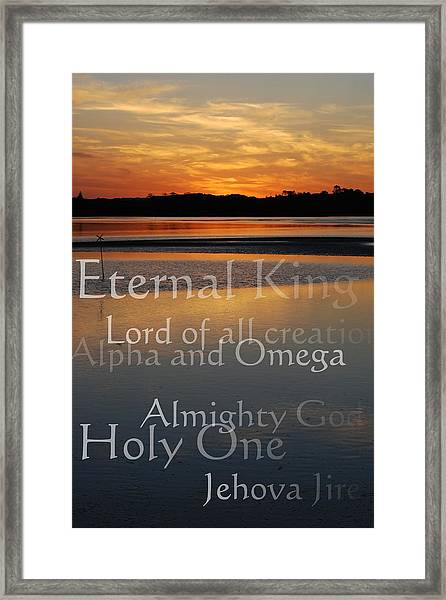 Inspirational Sunset Framed Print