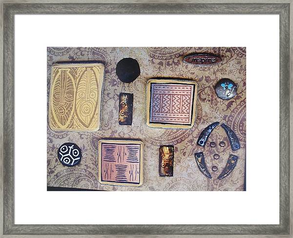 Inspire Collage Framed Print