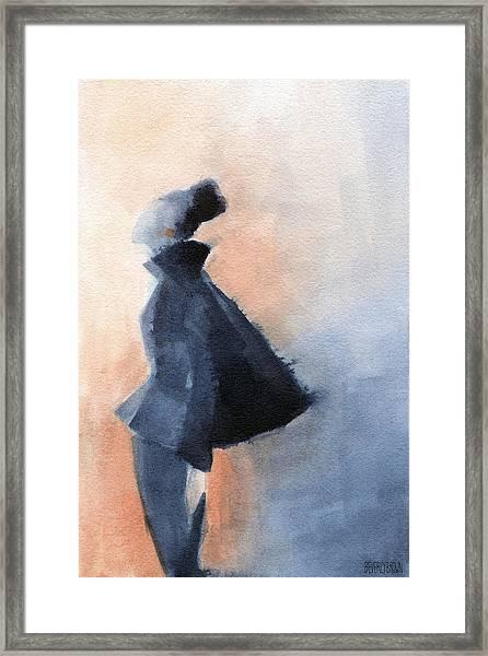 Inspired By Balenciaga Fashion Illustration Art Print Framed Print
