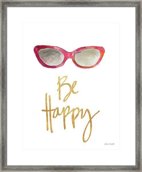 Inspired Sunglasses I Framed Print