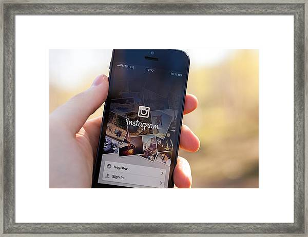 Instagram On Iphone 5 Framed Print by Erikona
